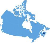Map of Canada - Prince Edward Island province - stock illustration