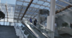 Unicredit tower entrance, Nice view of the escalator. Stock Footage