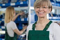 Female warehouse worker Kuvituskuvat