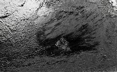 metallic black background - stock photo