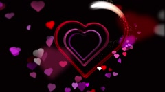 Heart of Love Valentine's Day Animation Loop - stock footage