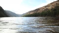 Upper Lake, Glendalough, Co. Wicklow, Ireland Stock Footage