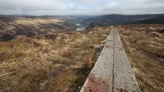 View Over Glendalough, Co. Wicklow, Ireland Stock Footage