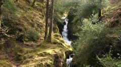 Polanass Waterfall, Glendalough, Co. Wicklow, Ireland Stock Footage