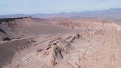 Stock Video Footage of View to the sand and clay hills of the Death Valley in Atacama desert, Chile.