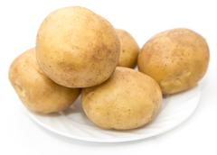 Stock Photo of potatoes on a white background