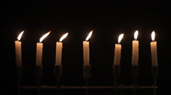 Candles On A Black Background Stock Footage