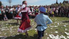 Russian Traditional Folk Dance Stock Footage