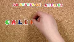 50 states of America. State of California Stock Footage