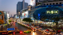 MBK center is a shopping mall in Bangkok Stock Footage