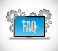 Stock Illustration of faq computer technology sign illustration