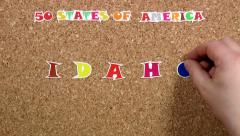 50 states of America. State of Idaho Stock Footage