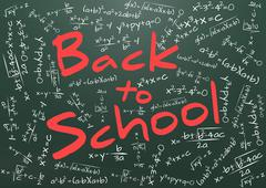 "Illustration of billboard with ""back to school"" text Stock Illustration"
