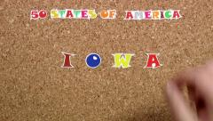 50 states of America. State of Iowa Stock Footage