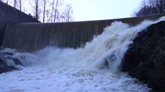 Vanhankaupunginkoski rapids (Vanhankaupunginkosken putous) Stock Footage