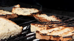 Toasted bread Stock Footage