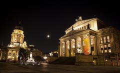 Gendarmenmarkt Square at night, Berlin, Germany Stock Photos