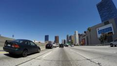 Los Angeles Freeways - Downtown Traffic Stock Footage