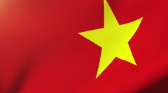 Vietnam flag waving in the wind. Looping sun rises style.  Animation loop Stock Footage