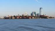 Stock Video Footage of Manhatten And Water