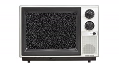 Vintage 1980's Television with Static Screen Stock Footage
