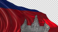 Flag of Cambodia Stock Footage