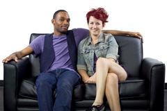 Interracial Crush - stock photo