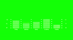 Analyzer green screen with white markings Stock Footage
