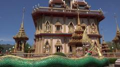 Buddhist temple of Wat Chalong, Phuket, Thailand Stock Footage