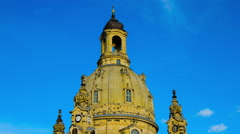 Timelapse of clouds move over the Frauenkirche in Dresden Stock Footage