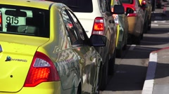 San Francisco taxie cabs Stock Footage