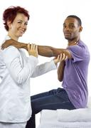 Sports Physical Therapy - stock photo