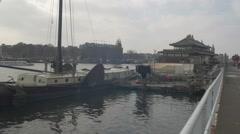 Amsterdam HD docks _4 Stock Footage