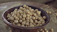 Heap of Chick Peas (loopable) Stock Footage
