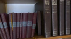 Book Shelf Shot - Books On The Shelf Stock Footage