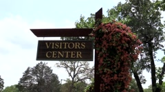 Visitors Center Sign Stock Footage