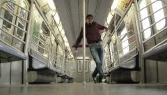 Guy dancing Stock Footage