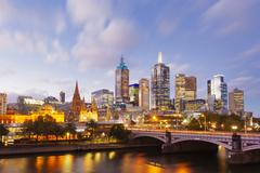 View of modern buildings in Melbourne, Australia Stock Photos