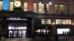 Macy's flagship store in New York Stock Footage