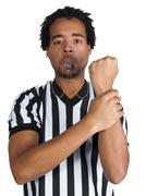 Stock Photo of Black Male Referee