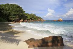 Beautiful beach Anse Lazio Stock Photos