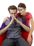 Manipulative boyfriend - stock photo
