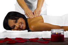 Backrub Massage - stock photo