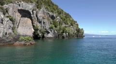 Boats, Lake Taupo, New Zealand Stock Footage
