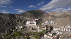 Tibetan Monastary High Angle,Lamayuru,Ladakh,India Stock Footage