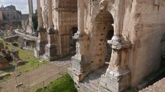 Septimius Severus Arch. Rome, Italy. 1280x720 Stock Footage