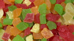 Candied Fruit Mix Stock Footage