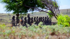 Easter Island Statues 01 HD Stock Footage
