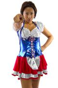 Asian American in Costume - stock photo