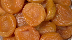 Bright Dried Apricots Stock Footage